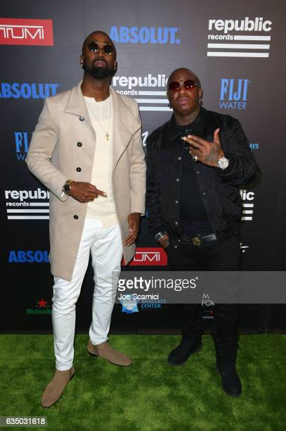 Singer Sy Ari Da Kid and rapper Birdman at a celebration of music with Republic Records cosponsored by FIJI Water at Catch LA on February 12 2017 in...