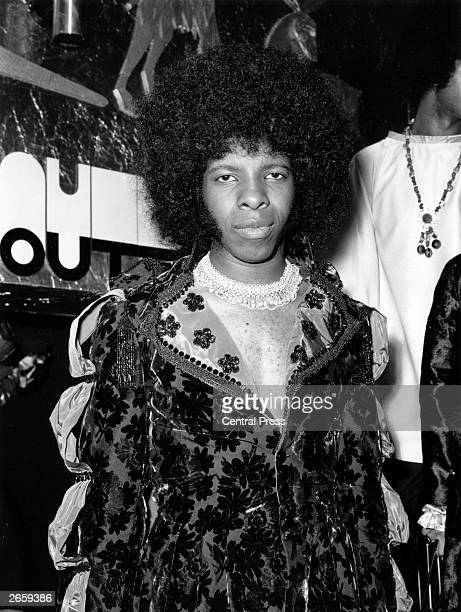 Singer Sylvester Stewart better known as Sly Stone leader of the popular American funk rock group Sly And The Family Stone at the Hatchett's Club...