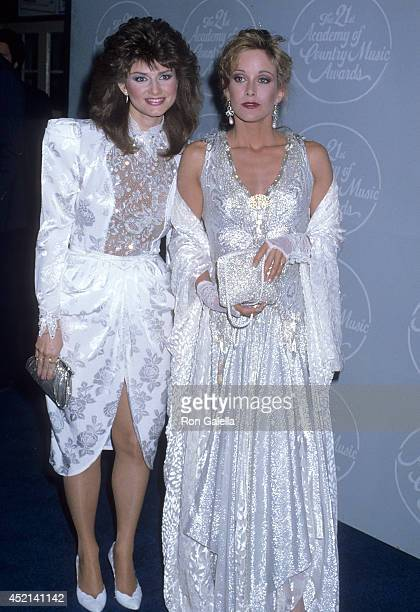 Singer Sylvia and actress Season Hubley attend the 21st Annual Academy of Country Music on April 14 1986 at the Good Time Theatre Knott's Berry Farm...
