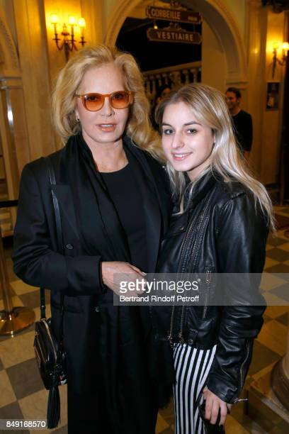 Singer Sylvie Vartan and her daughter Darina ScottiVartan attend La vraie vie Theater Play at Theatre Edouard VII on September 18 2017 in Paris France