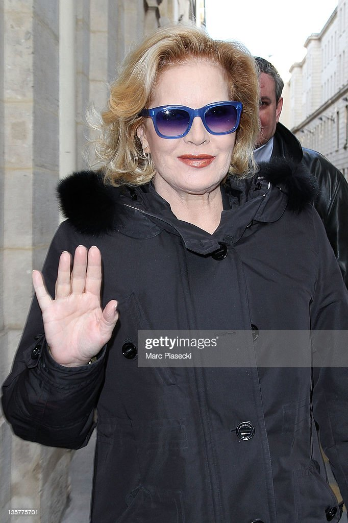 Singer Sylvie Vartan Arrives At French Ministry Of Culture