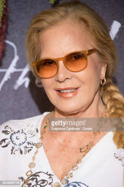 "Singer Sylvie Vartan attends the French Premiere of ""mother!"" at Cinema UGC Normandie on September 7, 2017 in Paris, France."
