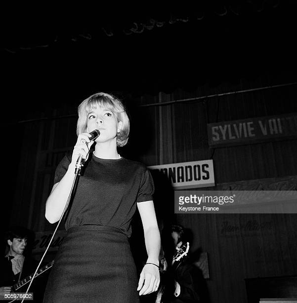 Singer Sylvie Vartan during a rehearsal at the Olympia music hall in Paris France on April 4 1963