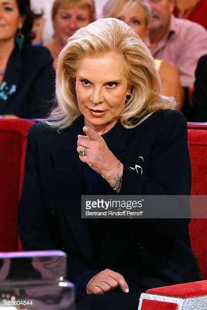 Singer Sylvie Vartan presents the Theater Play 'Ne me regardez pas comme ca ' performed at 'Theatre des Varietes' during the 'Vivement Dimanche'...