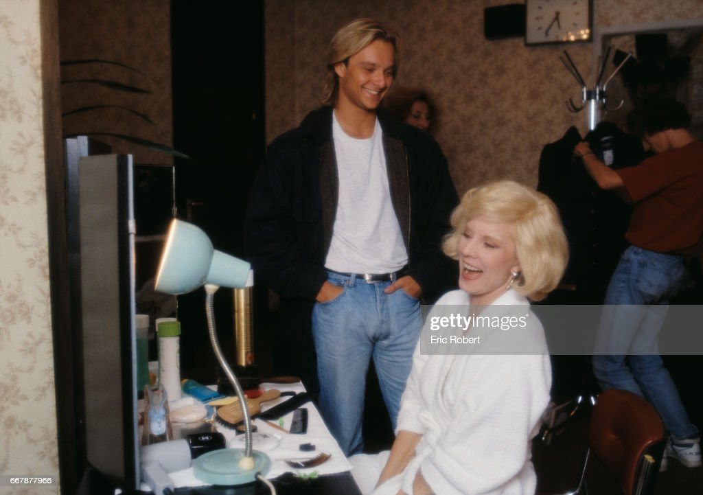 Sylvie Vartan In Dressing Room With Son Pictures | Getty Images