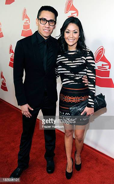 Singer Taboo and Jaymie Dizon arrive at the 2011 Latin Recording Academy's Person of the Year honoring Shakira at Mandalay Bay Resort Casino on...