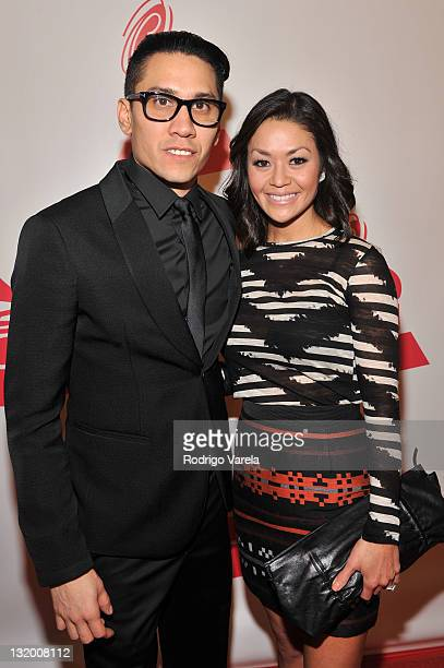 Singer Taboo of the Black Eyed Peas and Jaymie Dizon arrive at the 2011 Latin Recording Academy Person Of The Year honoring Shakira held at the...