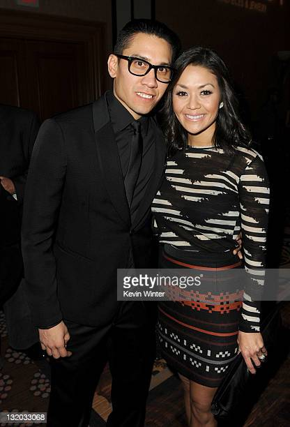 Singer Taboo of the Black Eyed Peas and Jaymie Dizon attend the 2011 Latin Recording Academy Person Of The Year Honoring Shakira cocktail reception...