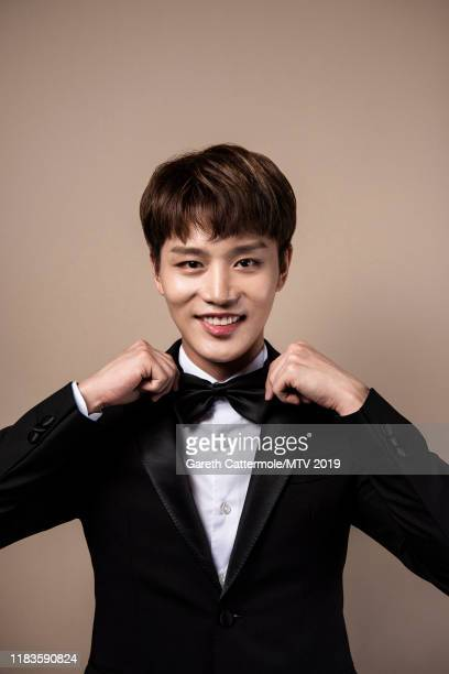 Singer Taeil of boy band NCT 127 pose for a portrait at the MTV EMAs 2019 studio at FIBES Conference and Exhibition Centre on November 3 2019 in...