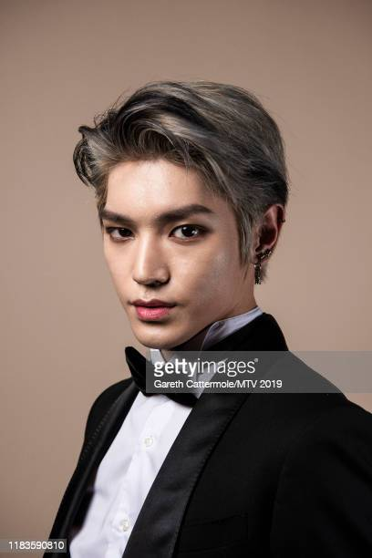 Singer Taeyong of boy band NCT 127 pose for a portrait at the MTV EMAs 2019 studio at FIBES Conference and Exhibition Centre on November 3 2019 in...
