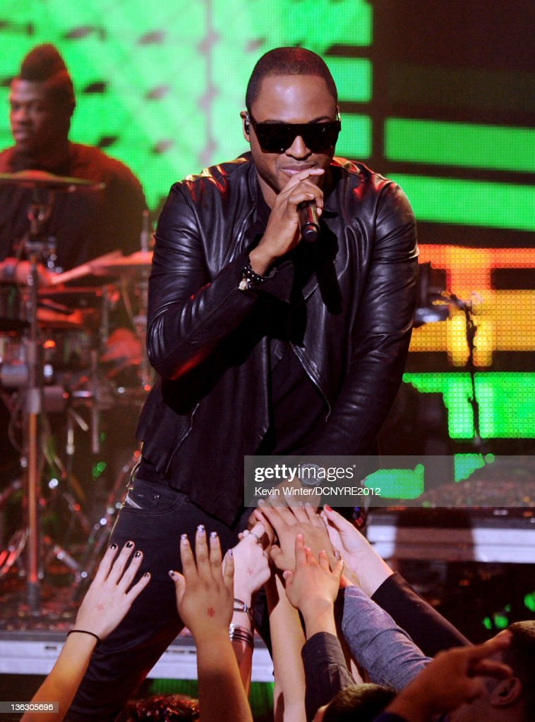 Singer Taio Cruz performs on Dick Clark's New Year's Rockin' Eve at Los Angeles Center Studios on December 31, 2011 in Los Angeles, California.