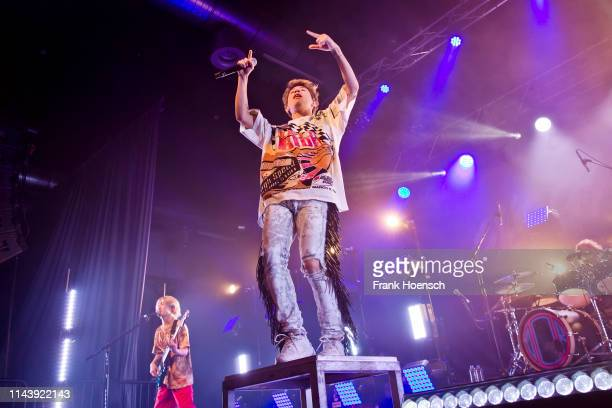 Singer Taka of the Japanese band One Ok Rock performs live on stage during a concert at the Huxleys on May 14 2019 in Berlin Germany