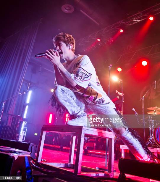 Singer Taka of the Japanese band One Ok Rock performs live on stage during a concert at the Huxleys on May 14, 2019 in Berlin, Germany.
