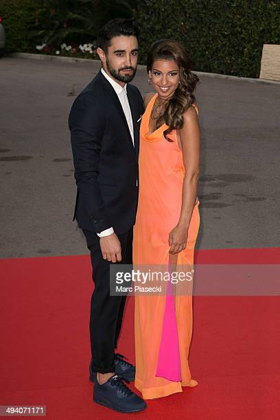 Singer Tal and boyfriend Anthony arrive to attend the 'World Music Awards 2014' ceremony at Sporting MonteCarlo on May 27 2014 in MonteCarlo Monaco