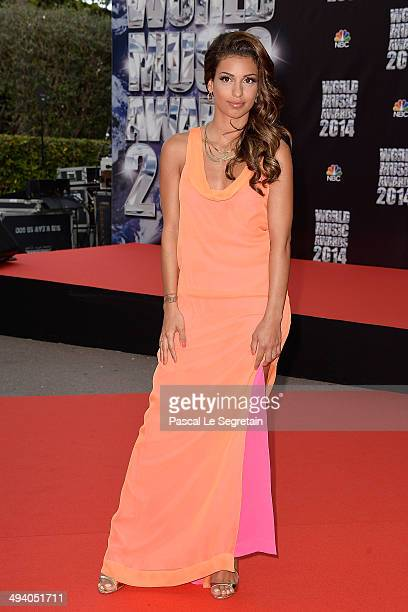 Singer Tal arrives at the World Music Awards at Sporting MonteCarlo on May 27 2014 in MonteCarlo Monaco