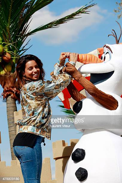 Singer Tal attends the Frozen Summer Party at Disneyland Paris on May 30 2015 in Paris France