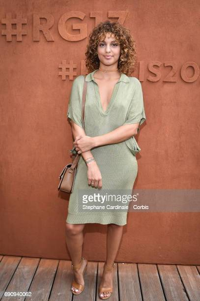 Singer Tal Benyerzi aka Tal attends the 2017 French Tennis Open Day Four at Roland Garros on May 31 2017 in Paris France