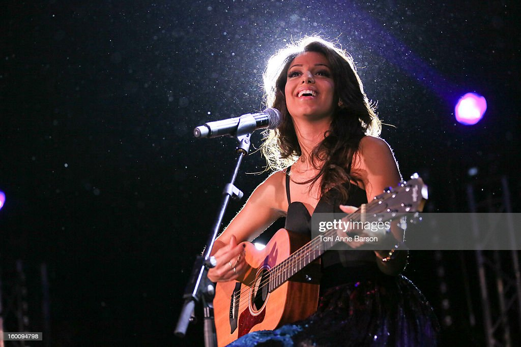 Singer Tal Benyerzi performs during 'Before NRJ Music Awards 2013 Concert' at Palais des Festivals on January 25, 2013 in Cannes, France.