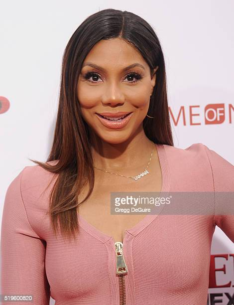 Singer Tamar Braxton arrives at the premiere of New Line Cinema's 'Barbershop The Next Cut' at TCL Chinese Theatre on April 6 2016 in Hollywood...