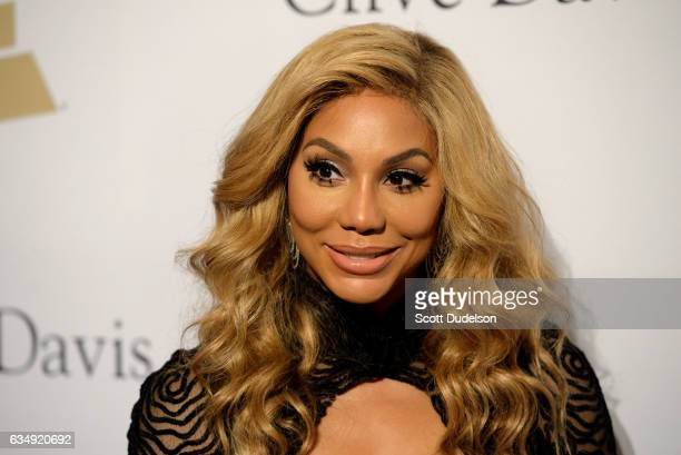 Singer Tamar Braxton attends the 2017 PreGRAMMY Gala And Salute to Industry Icons Honoring Debra Lee at The Beverly Hilton Hotel on February 11 2017...