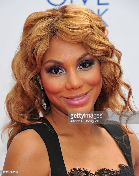 Singer Tamar Braxton attends the Give Back Hollywood Foundation's benefit for VH1 Save the Music Foundation on August 26 2011 in Los Angeles...