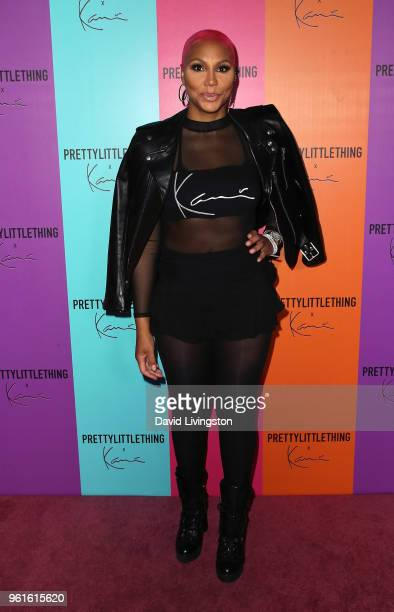 Singer Tamar Braxton attends the PrettyLittleThing x Karl Kani event at Nightingale Plaza on May 22 2018 in Los Angeles California