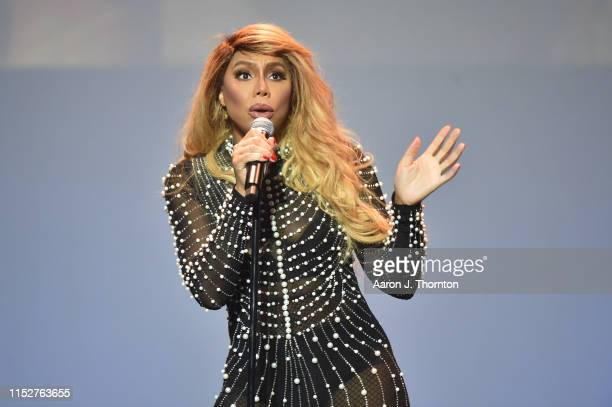 Singer Tamar Braxton performs on stage at The Soundboard, Motor City Casino on May 30, 2019 in Detroit, Michigan.