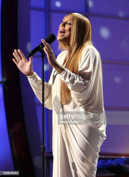 Singer Tamar Braxton performs onstage during the BET Celebration of Gospel 2013 at Orpheum Theatre on March 16 2013 in Los Angeles California