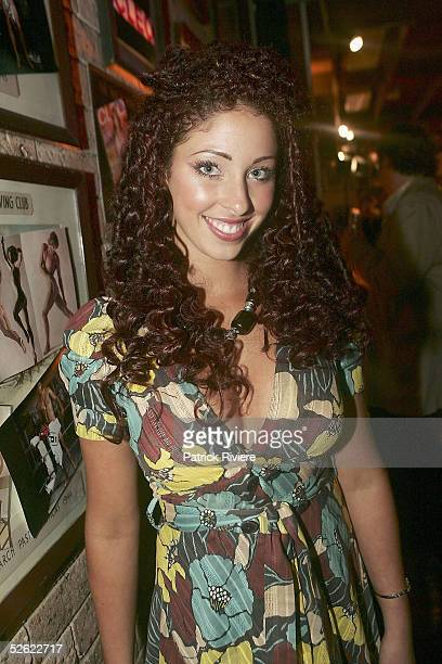 Singer Tamara Jaber attends the Cleo Centrefold sizzling VIP and Celebrity BBQ at the North Bondi surf life saving club on April 13, 2005 in Sydney,...