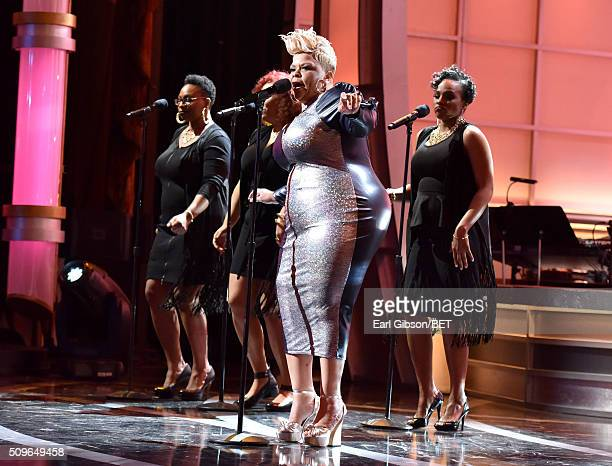 Singer Tamela Mann performs onstage during BET Celebration Of Gospel 2016 at Orpheum Theatre on January 9 2016 in Los Angeles California