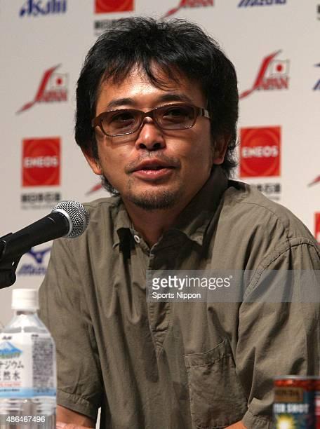 September 25:Singer Tamio Okuda speaks during the press conference for his new song on September 25, 2007 in Tokyo, Japan.
