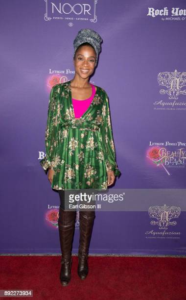 Singer Tamyra Gray attends the Lythgoe Family Pantos Opening Night Performance Of 'Beauty And The BeastA Christmas Rose' at Pasadena Civic Auditorium...