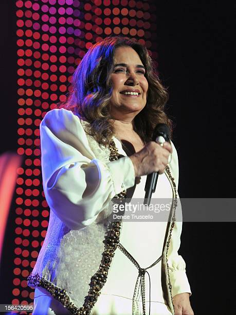 Singer Tania Libertad performs onstage during the 2012 Person of the Year honoring Caetano Veloso at the MGM Grand Garden Arena on November 14 2012...