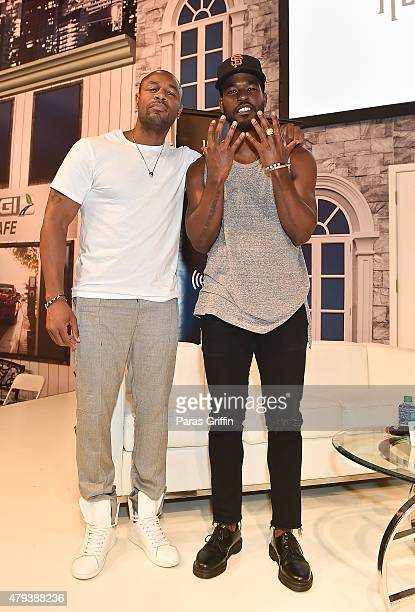 Singer Tank and singer Luke James attend the 2015 Essence Music Festival on July 3 2015 at Ernest N Morial Convention Center in New Orleans Louisiana
