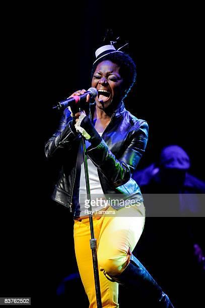 Singer Tarsha McMillan Hamilton performs at the Blender Theater on November 19 2008 in New York City