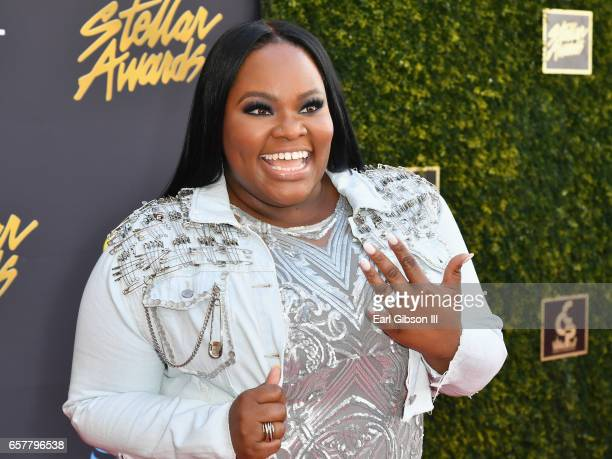 Singer Tasha Cobbs arrives at the 32nd annual Stellar Gospel Music Awards at the Orleans Arena on March 25 2017 in Las Vegas Nevada