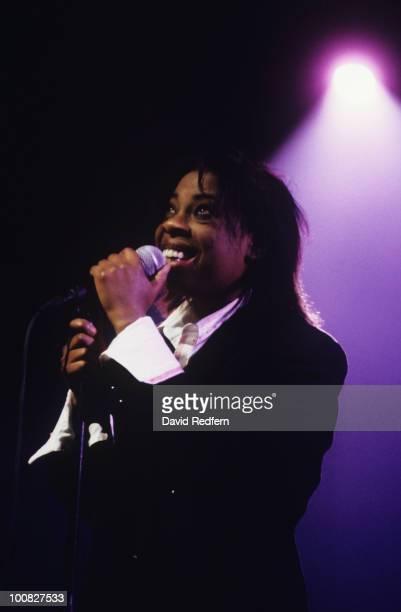 Singer Tasmin Archer performs on stage circa 1992