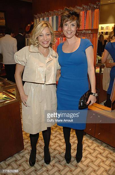 Singer Taylor Dayne and actress Zoe McLellan attend the debut of the Bugatti Veyron FBG with Interior by Hermes at the Hermes Boutique on April 2...