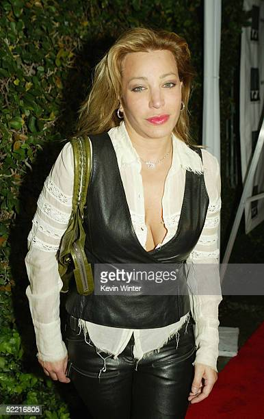 Singer Taylor Dayne arrives at the world premiere engagement of the onewoman play Listen Closely starring EG Daily at The Court Theatre on February...