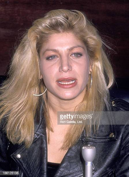 Singer Taylor Dayne attends the Fourth Annual New York Music Awards on April 8 1989 at Beacon Theatre in New York City New York