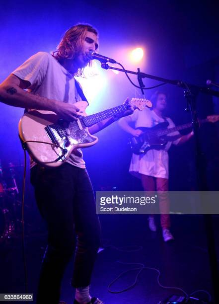 Singer Taylor Hecocks of the band King Shelter performs onstage at The Echo on February 4 2017 in Los Angeles California