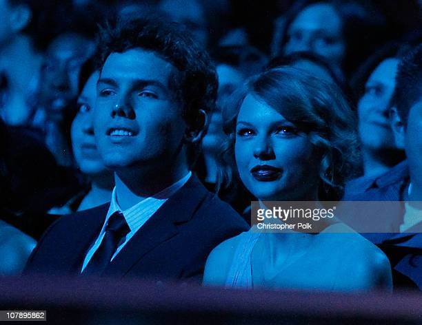 Singer Taylor Swift and brother Austin Swift attend the 2011 People's Choice Awards at Nokia Theatre LA Live on January 5 2011 in Los Angeles...