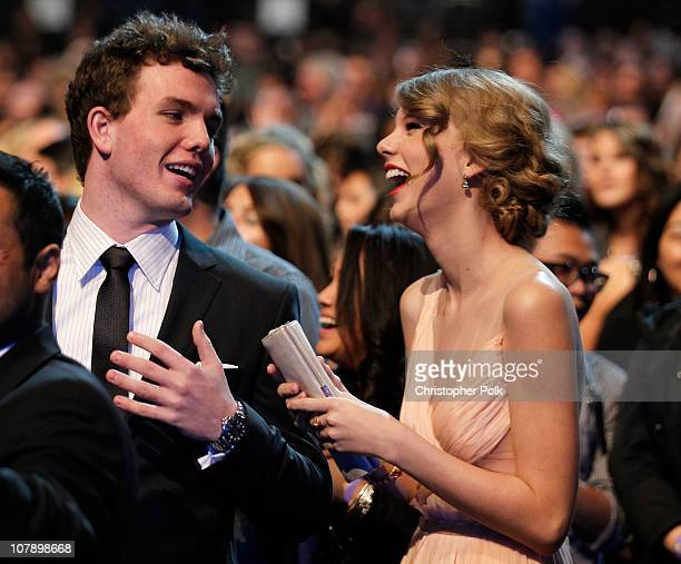 Singer Taylor Swift and brother Auston Swift attend the 2011 People's Choice Awards at Nokia Theatre LA Live on January 5 2011 in Los Angeles...