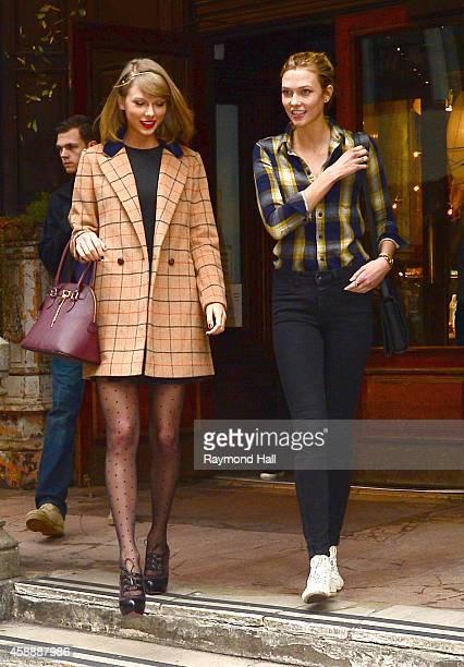 Singer Taylor Swift and model Karlie Kloss are seen in Soho on November 12 2014 in New York City