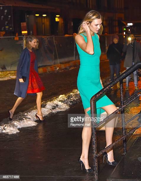 Singer Taylor Swift and model Karlie Kloss are seen in walking in Soho on February 17 2015 in New York City