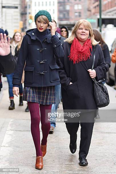 Singer Taylor Swift and mother Andrea Finlay are seen on December 22 2014 in New York City