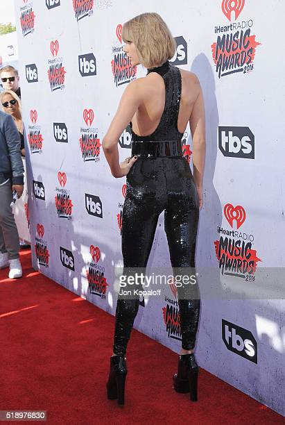 Singer Taylor Swift arrives at iHeartRadio Music Awards on April 3 2016 in Inglewood California