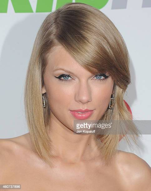 Singer Taylor Swift arrives at KIIS FM's Jingle Ball 2014 at Staples Center on December 5 2014 in Los Angeles California