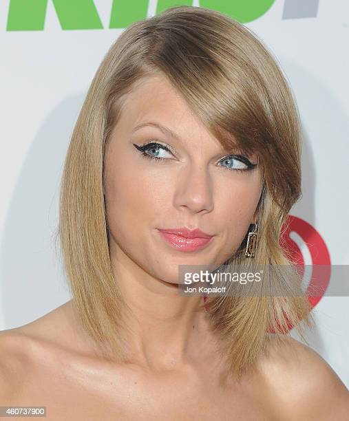 Singer Taylor Swift arrives at KIIS FM's Jingle Ball 2014 at Staples Center on December 5 2014 in Los Angeles California