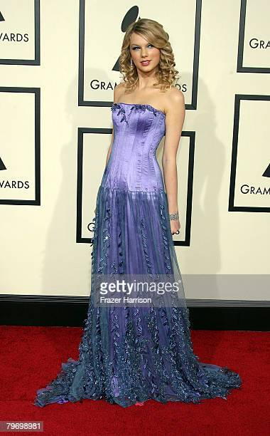Singer Taylor Swift arrives at the 50th annual Grammy awards held at the Staples Center on February 10 2008 in Los Angeles California